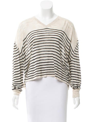 Étoile Isabel Marant Cropped Striped Sweater w/ Tags None