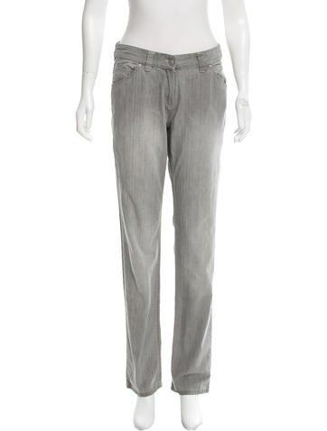 Étoile Isabel Marant Mid-Rise Straight-Leg Jeans
