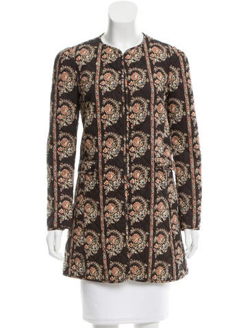 Étoile Isabel Marant Quilted Floral Print Jacket