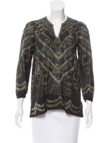 Étoile Isabel Marant Stud-Accented Printed Top None