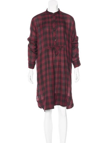 Étoile Isabel Marant Plaid Oversize Dress