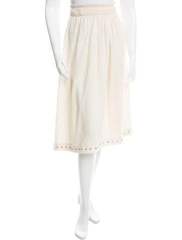 Étoile Isabel Marant Grommet-Trimmed Midi Skirt