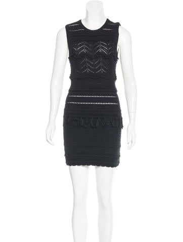 Étoile Isabel Marant Macramé Mini Dress None