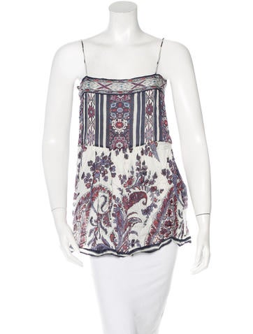 Étoile Isabel Marant Printed Sleeveless Top None