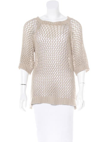 Étoile Isabel Marant Open Knit Short Sleeve Sweater None