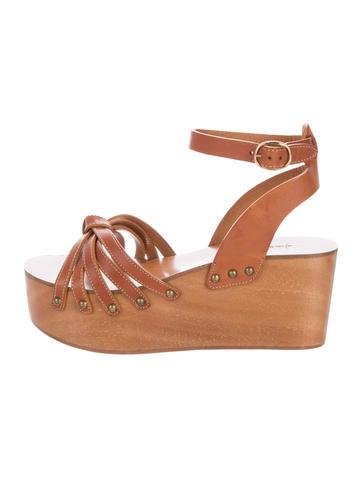 Étoile Isabel Marant Leather Platform Sandals None