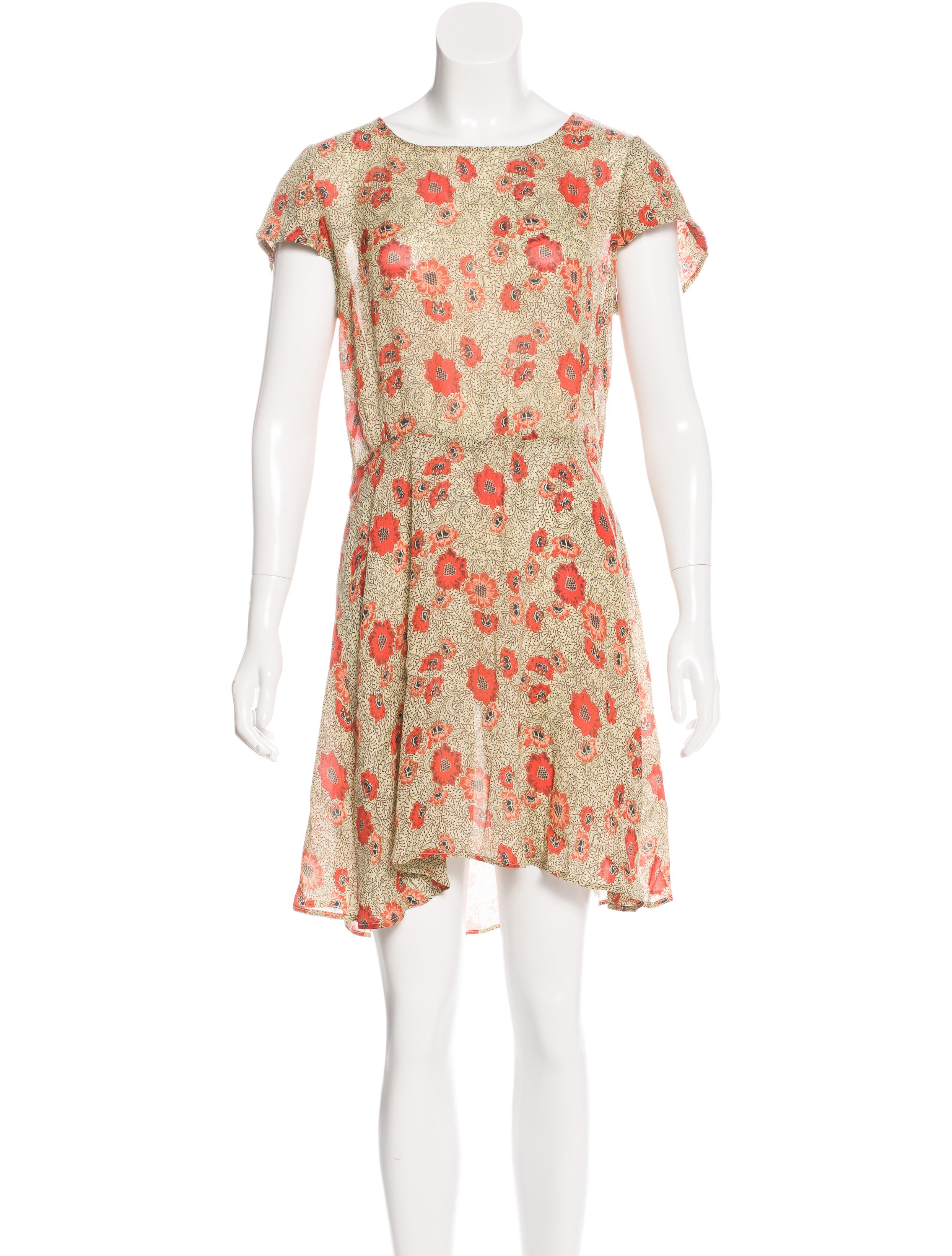 Toile isabel marant silk printed dress clothing for Isabel marant shirt dress