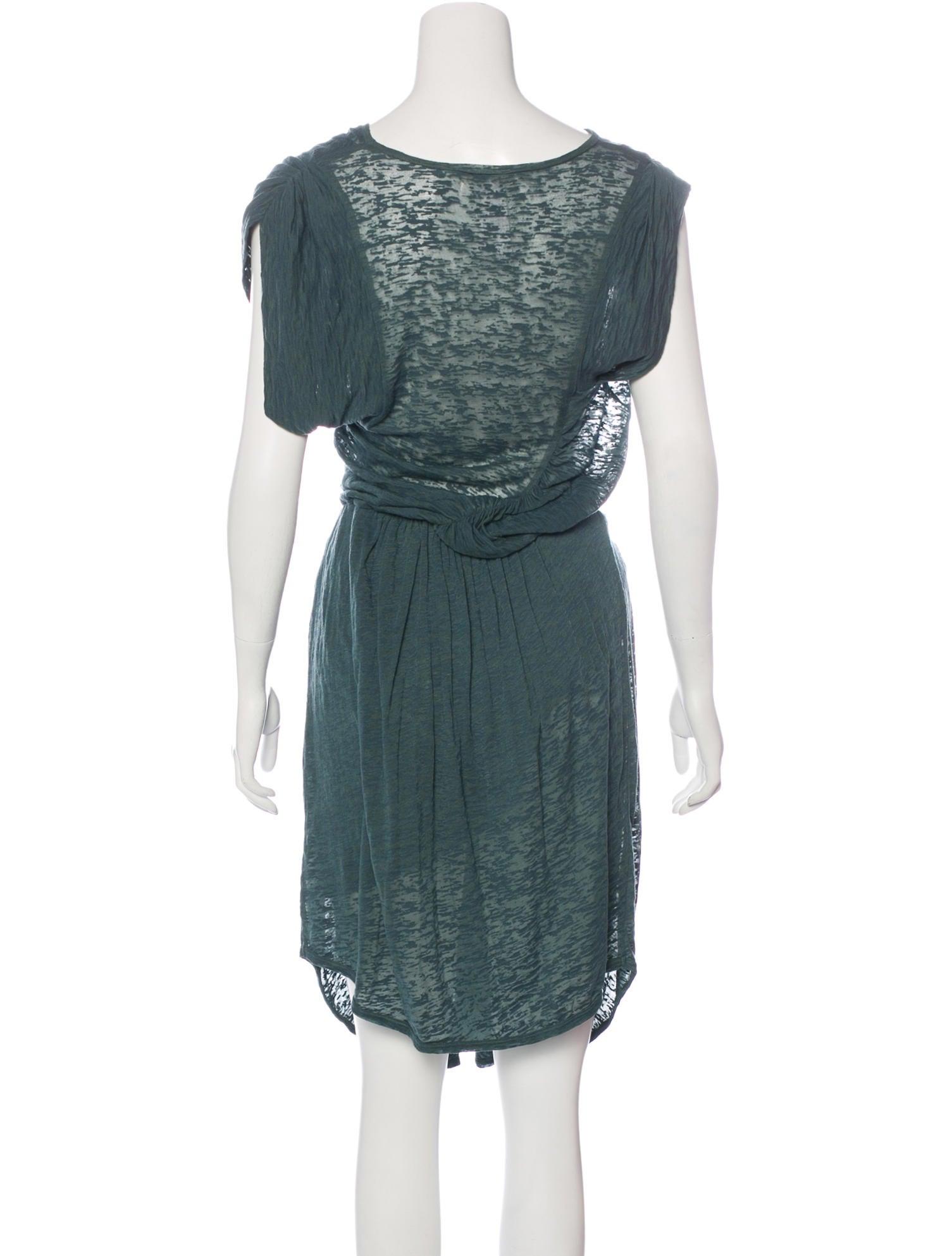 Toile isabel marant ruched midi dress clothing for Isabel marant shirt dress