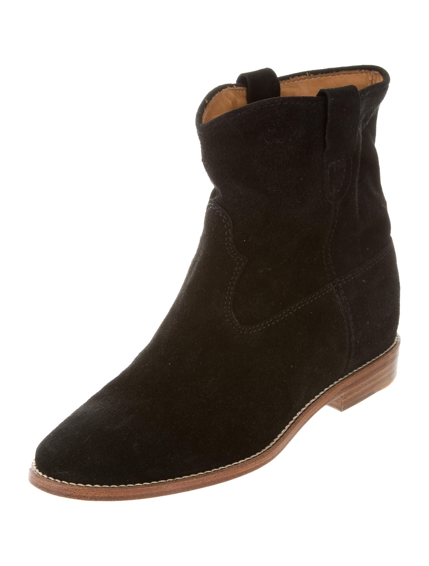 toile isabel marant crisi ankle boots shoes wet38893 the realreal. Black Bedroom Furniture Sets. Home Design Ideas