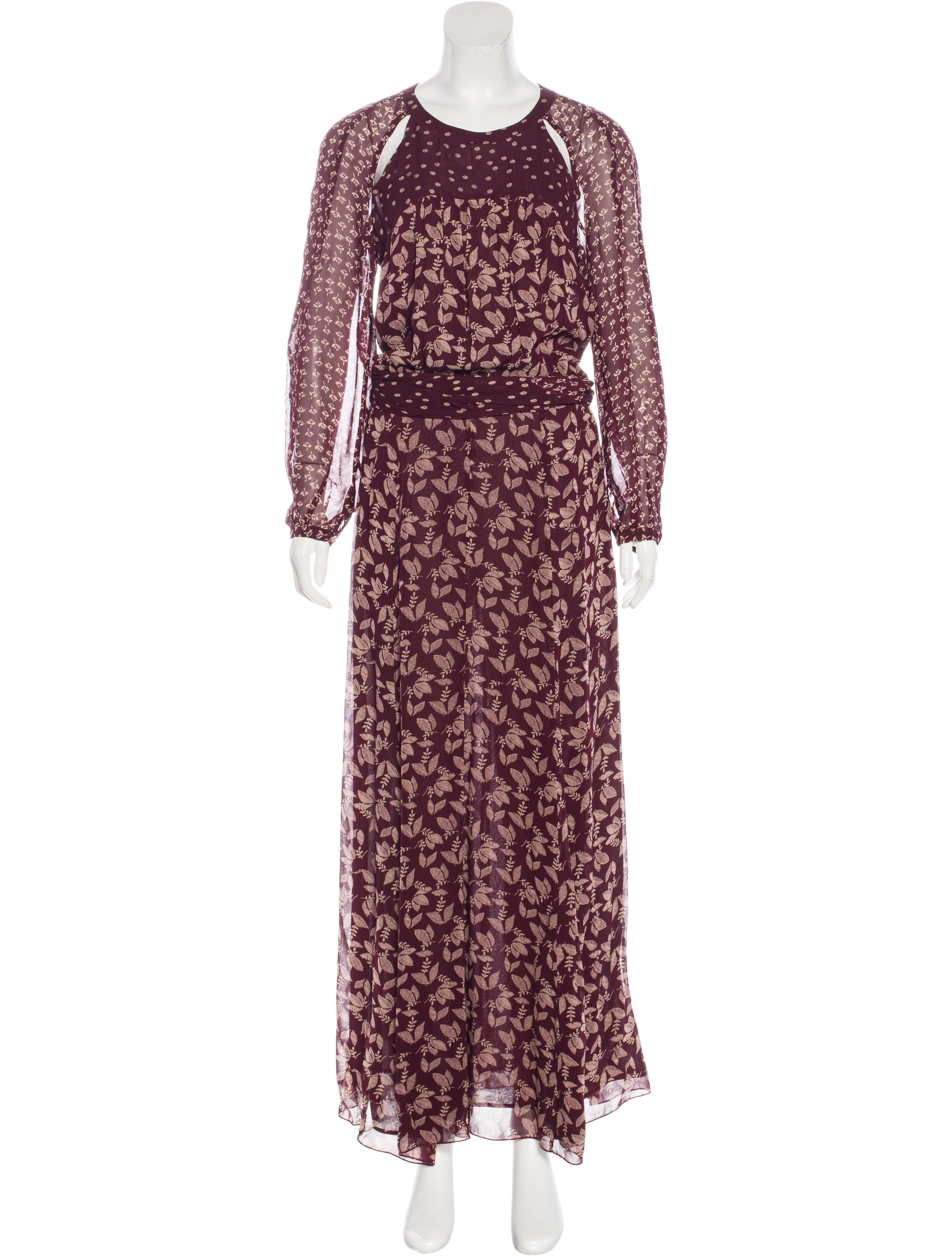 Toile isabel marant printed maxi dress clothing for Isabel marant shirt dress