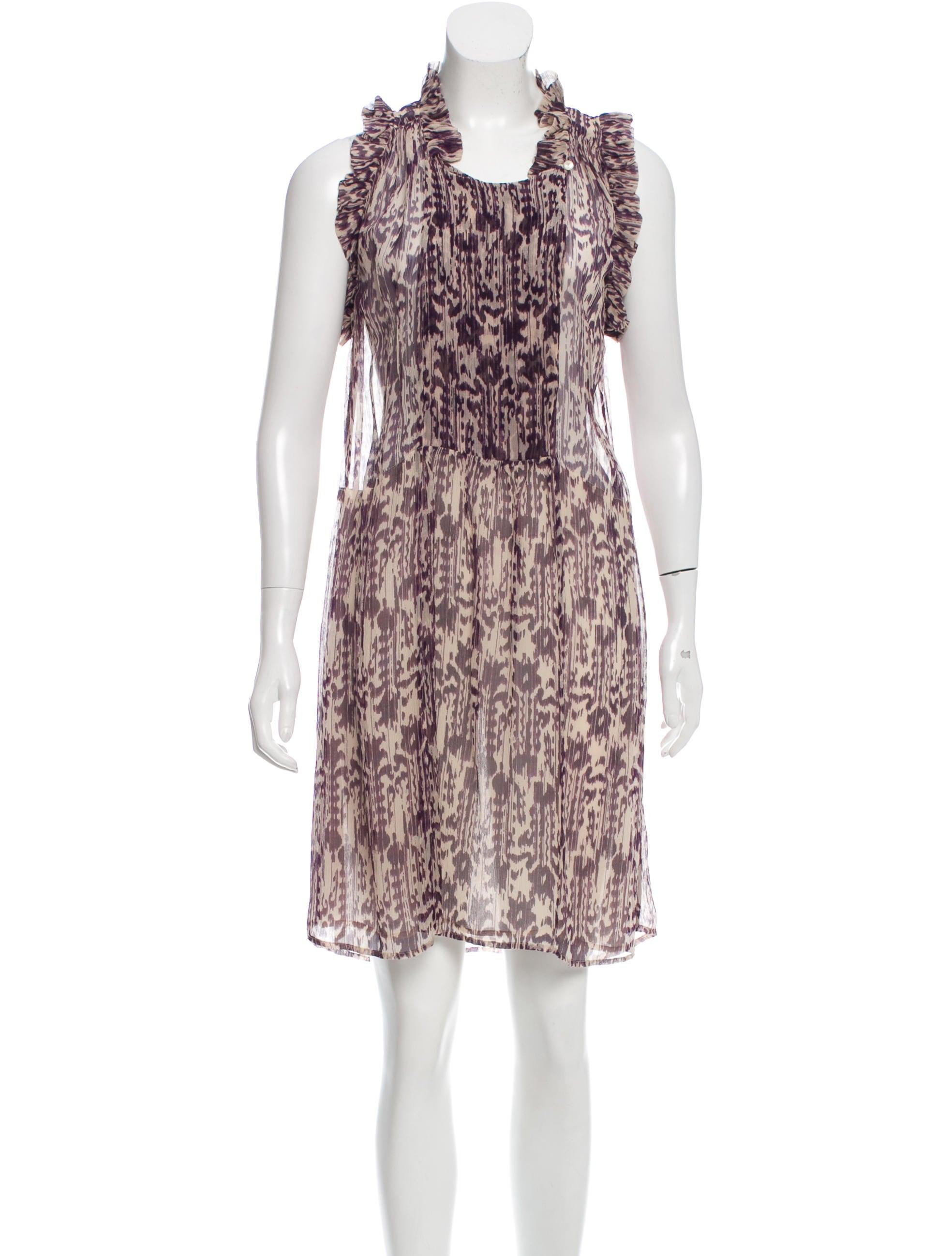 Toile isabel marant printed pliss dress clothing for Isabel marant shirt dress