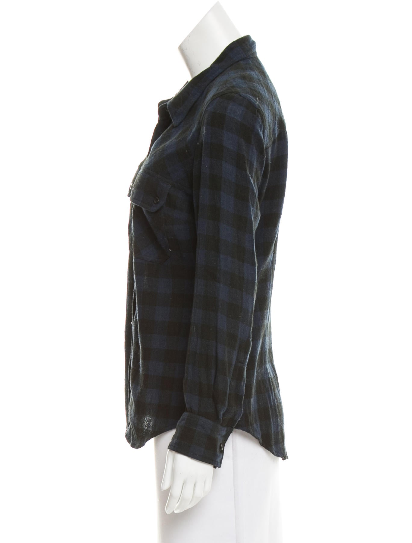 toile isabel marant long sleeve plaid button up. Black Bedroom Furniture Sets. Home Design Ideas