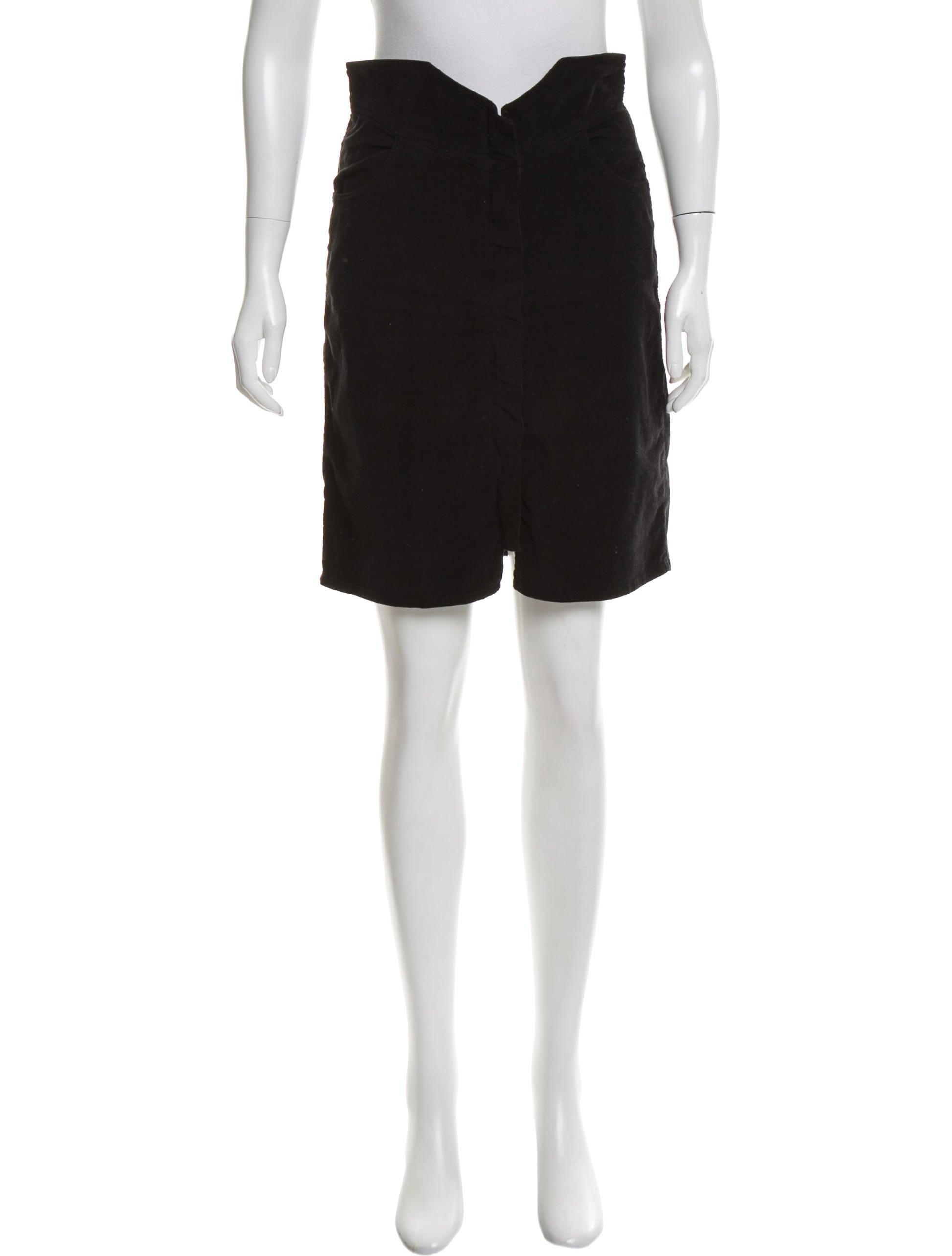 201 toile marant knee length corduroy skirt clothing