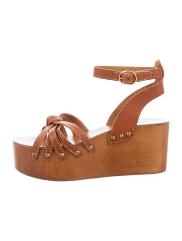 Étoile Isabel Marant Leather Platform Sandals None