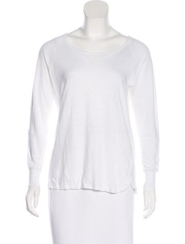 Étoile Isabel Marant Long Sleeve Linen Top None