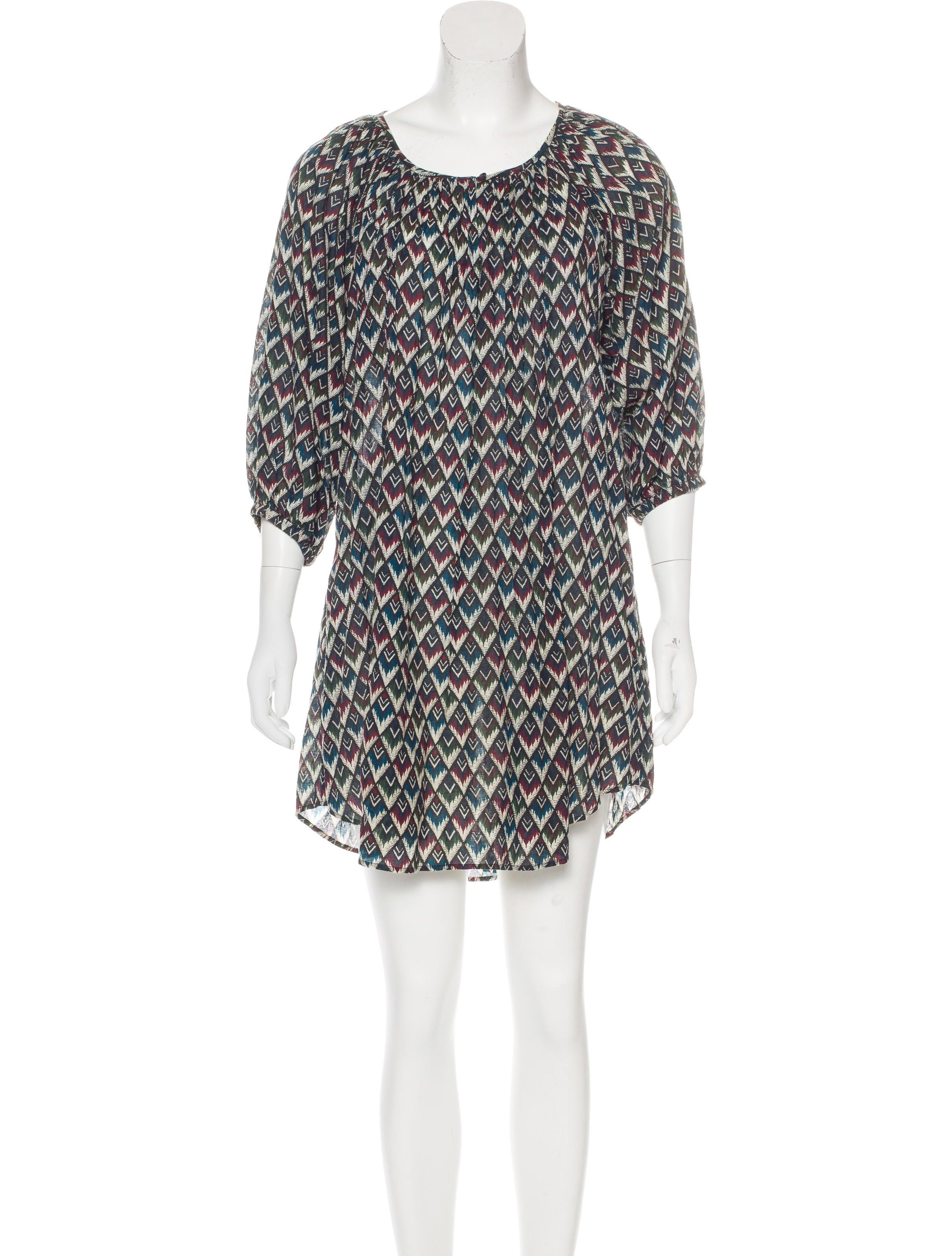 Toile isabel marant long sleeve printed dress clothing for Isabel marant shirt dress
