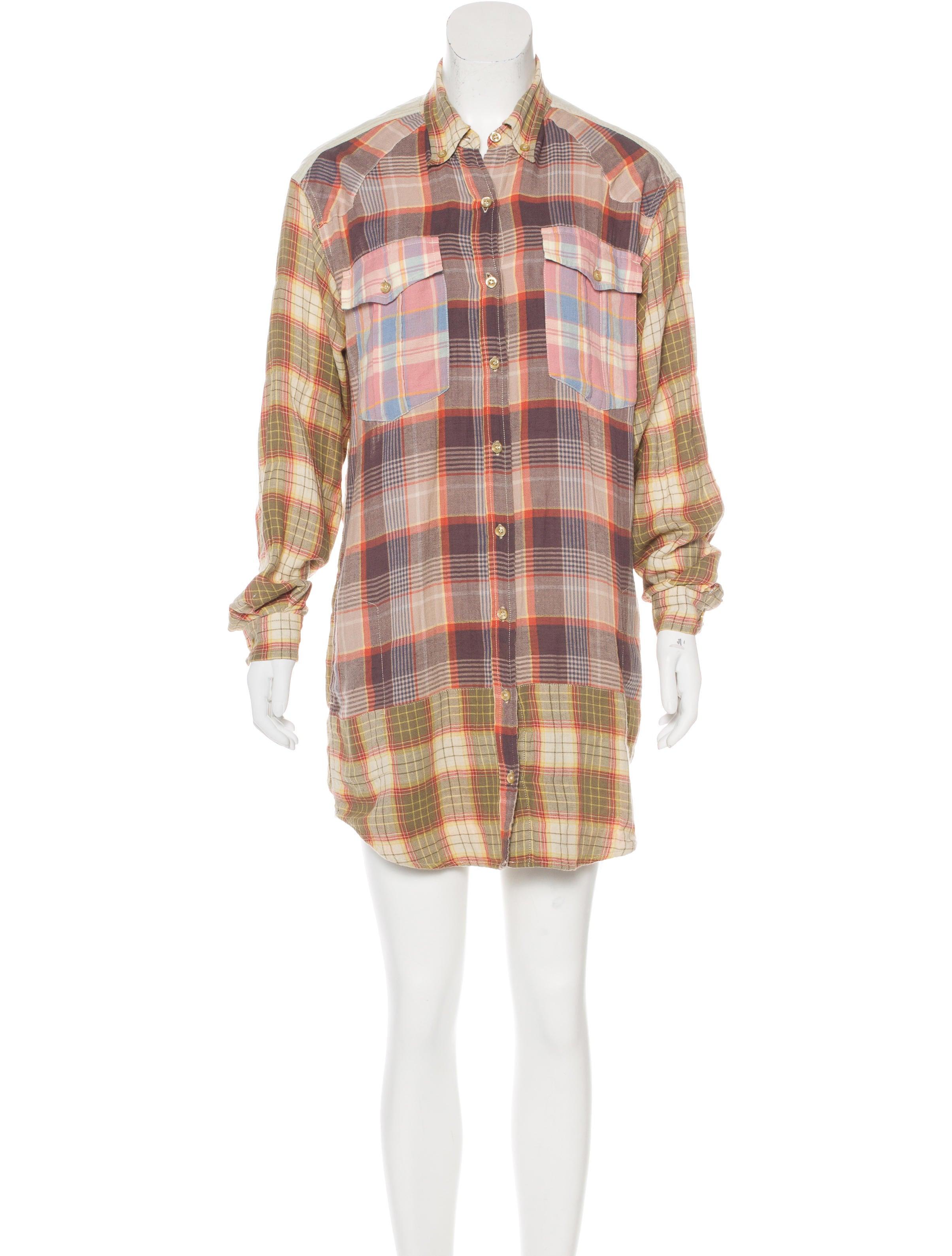 Toile isabel marant plaid shirt dress clothing for Isabel marant shirt dress