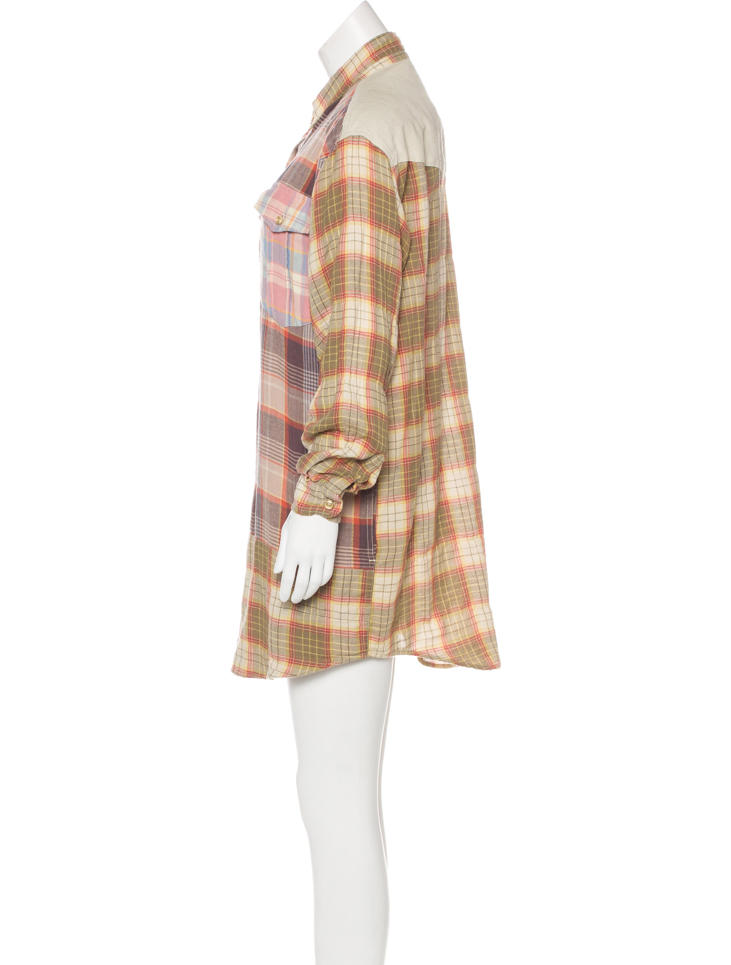 Toile Isabel Marant Plaid Shirt Dress Clothing