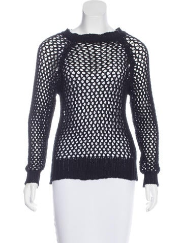 Étoile Isabel Marant Open-Knit Long Sleeve Sweater None