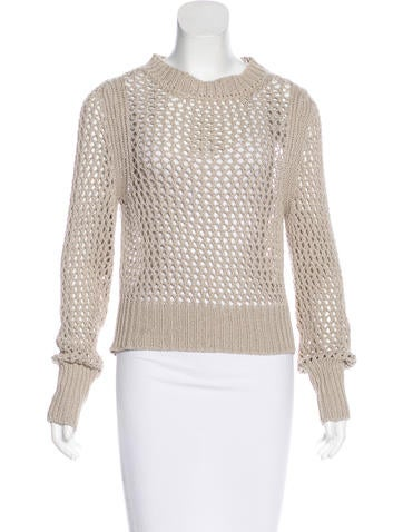 Étoile Isabel Marant Open Knit Long Sleeve Sweater None