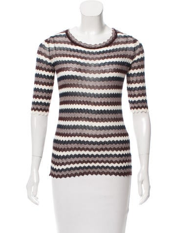Étoile Isabel Marant Patterned Rib Knit Top None