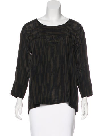 Étoile Isabel Marant Silk Printed Top None