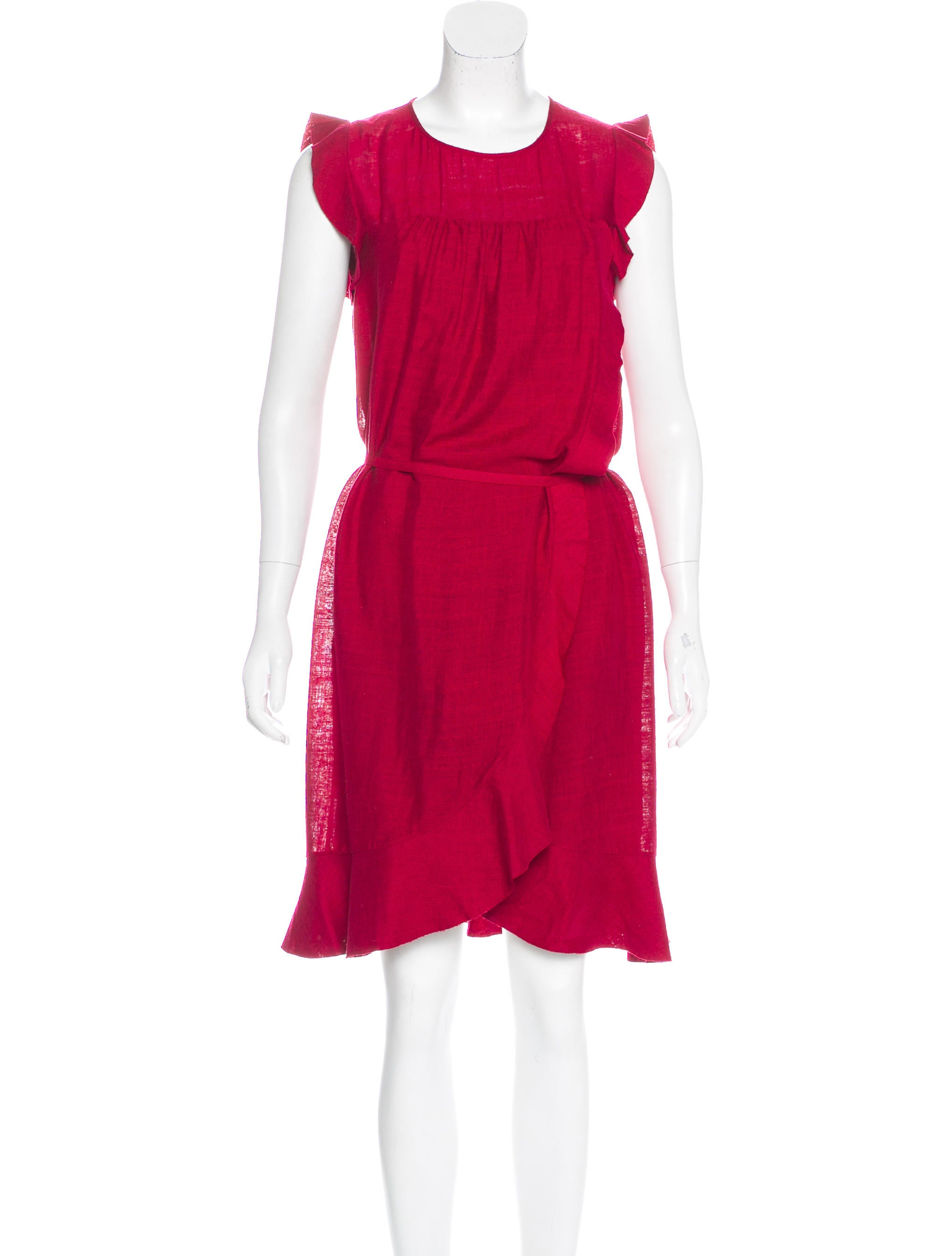 Toile isabel marant silk ruffled dress clothing for Isabel marant shirt dress