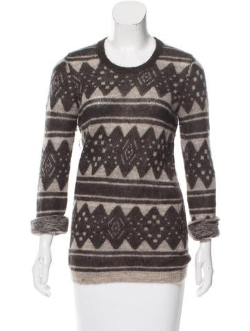 Étoile Isabel Marant Intarsia Mohair Sweater None