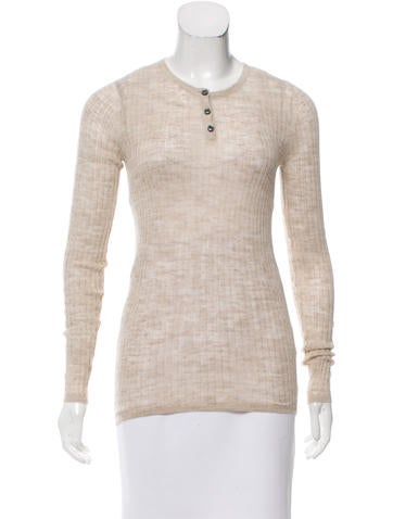 Étoile Isabel Marant Ribbed Button-Up Top None