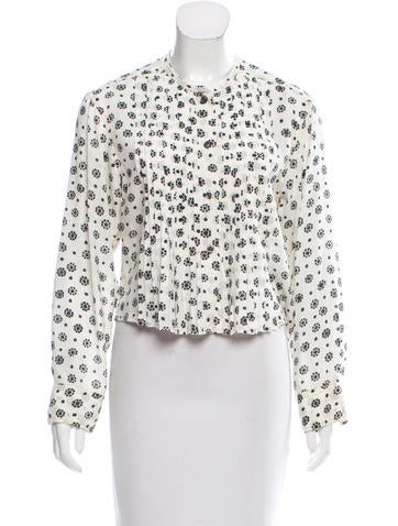 Étoile Isabel Marant Printed Button-Up Top None