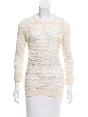 Étoile Isabel Marant Open Knit Long Sleeve Top None