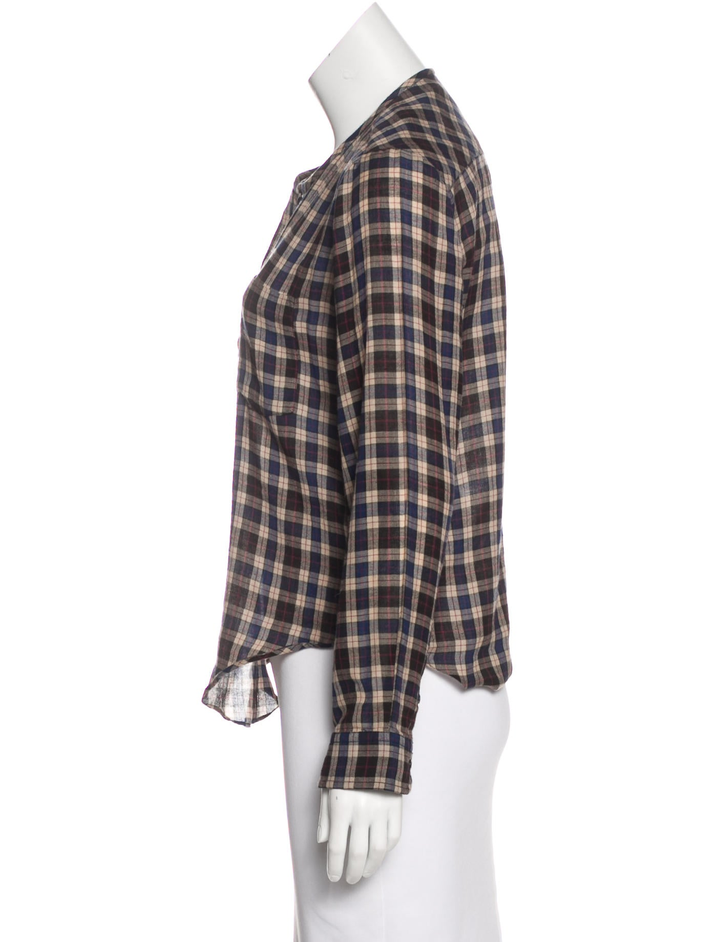 toile isabel marant plaid flannel blouse clothing. Black Bedroom Furniture Sets. Home Design Ideas