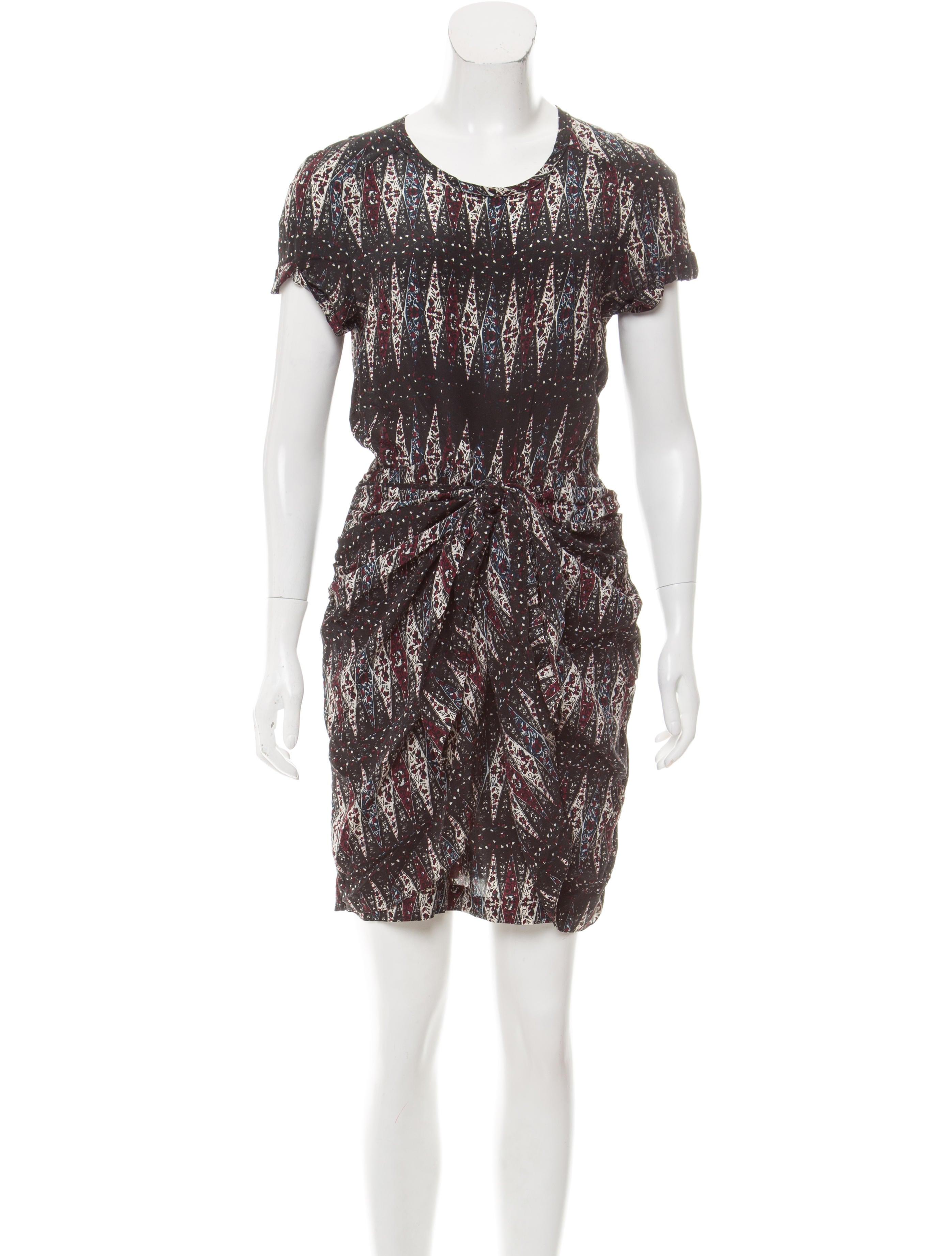 Toile isabel marant short sleeve printed dress clothing for Isabel marant shirt dress