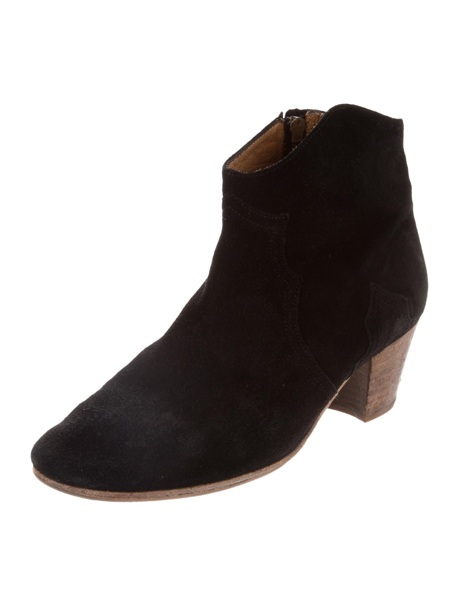 201 toile marant dicker suede ankle boots shoes