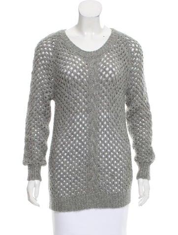 Isabel Marant Alpaca Open-Knit Sweater None