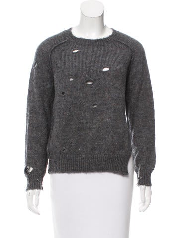 Étoile Isabel Marant Distressed Knit Sweater None