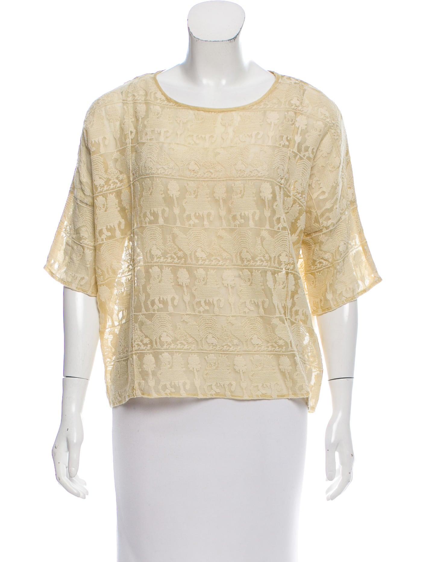 74485858088 Isabel Marant White Lace Blouse