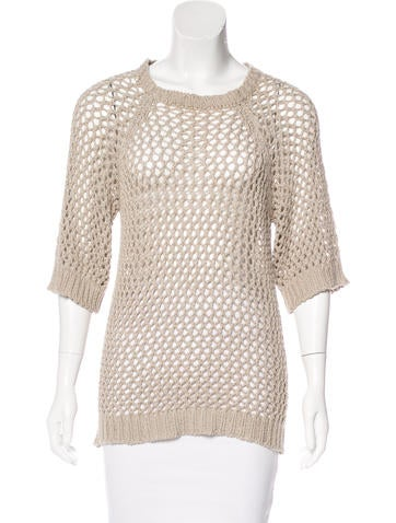 Étoile Isabel Marant Open Knit Short Sleeve Top None