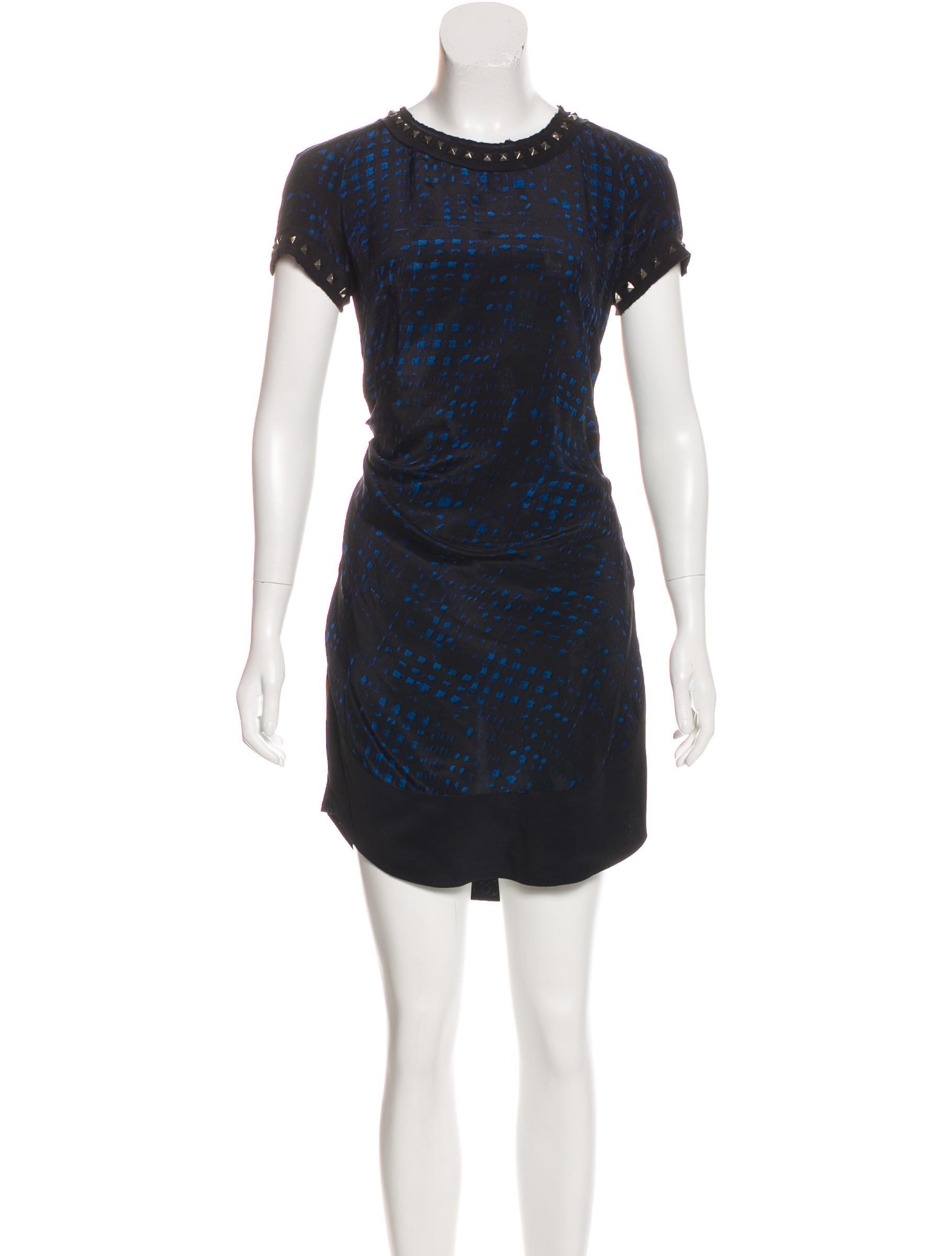 Toile isabel marant silk mini dress clothing wet45177 for Isabel marant shirt dress