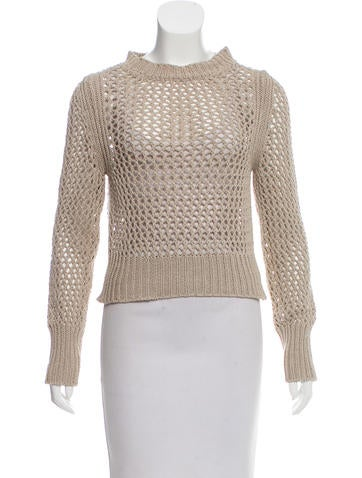 Étoile Isabel Marant Open Knit Cropped Sweater None