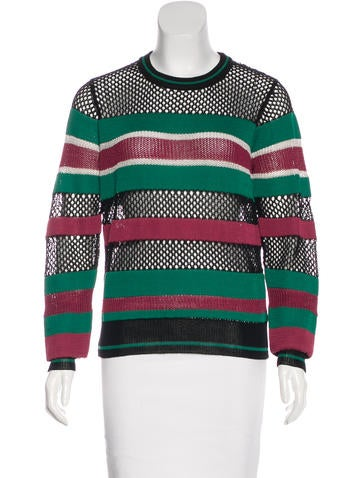 Étoile Isabel Marant Striped Open Knit Sweater None