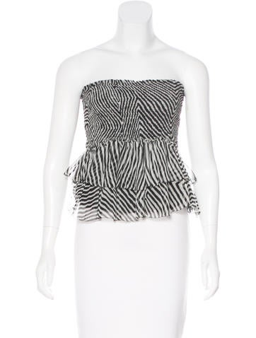 Étoile Isabel Marant Silk Strapless Top None