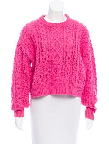 Étoile Isabel Marant Cable Knit Wool Sweater None