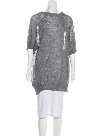 Étoile Isabel Marant Linen-Blend Knit Tunic None