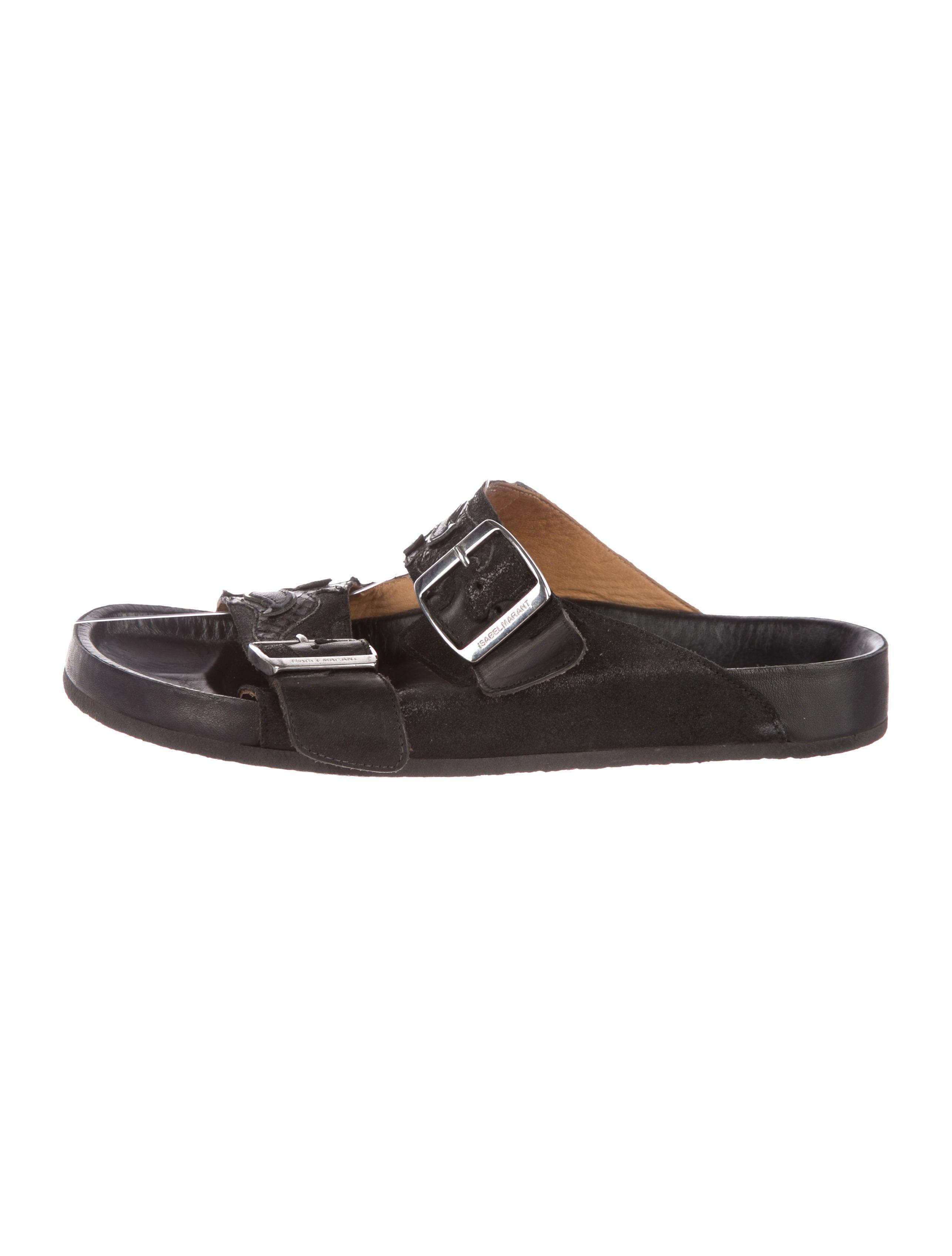 free shipping good selling Étoile Isabel Marant Snakeskin-Trimmed Cholita Sandals official site online sale GImzn