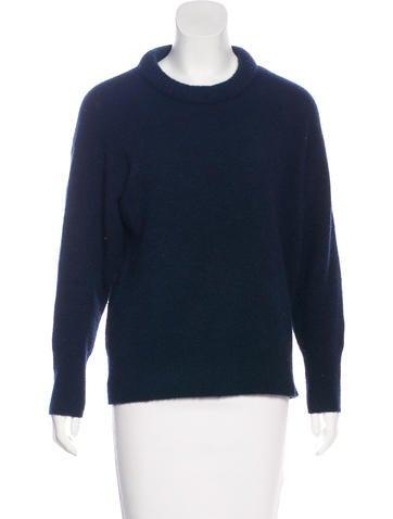 Étoile Isabel Marant Rib Knit Trim Crew Neck Sweater None
