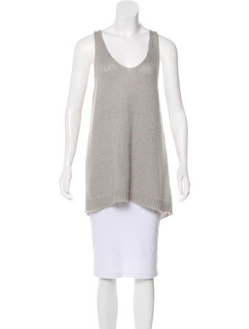 Étoile Isabel Marant Sleeveless Mohair-Blend Top None