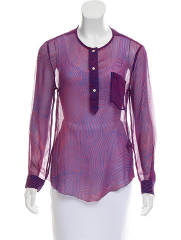 Étoile Isabel Marant Printed Long Sleeve Top None