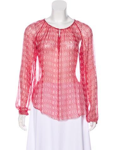 Étoile Isabel Marant Printed Silk Blouse None
