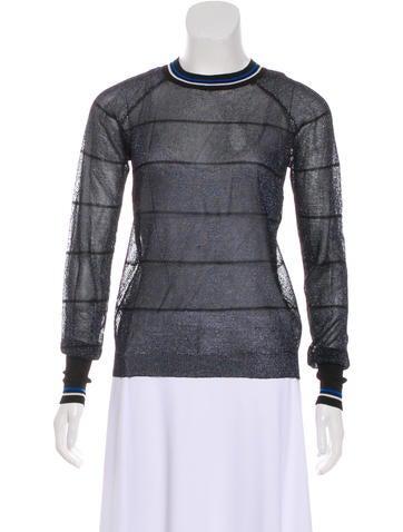 Étoile Isabel Marant Metallic Striped Knit Top None